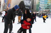 NEW YEARS DAY AT THE RINK AT CAMPUS MARTIUS PARK 2013