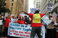 Detroit Water Rights protest demonstration July 2014