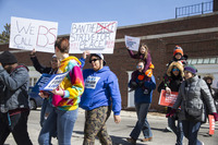 March For Our Lives gun control demo, Grosse Pte, MI, March 24, 2018